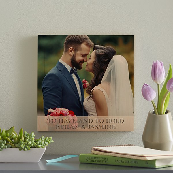 Wedding Photo Wooden Plaque