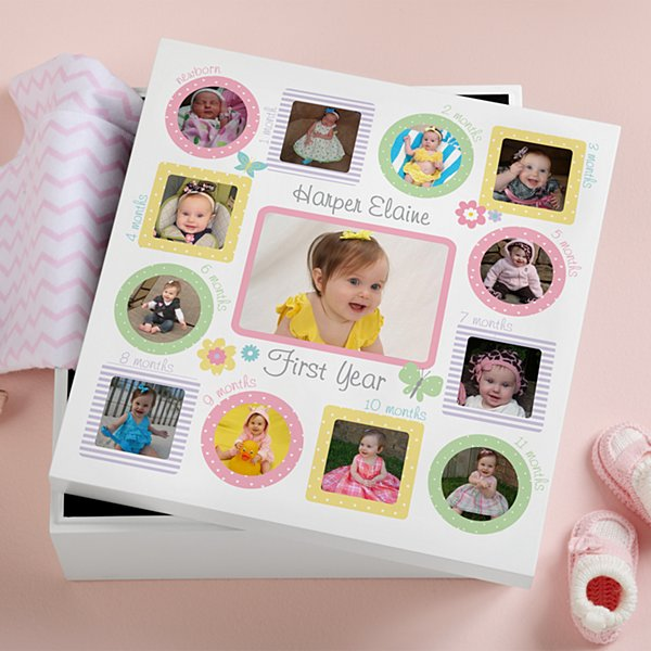 The First Year Photo Keepsake Box