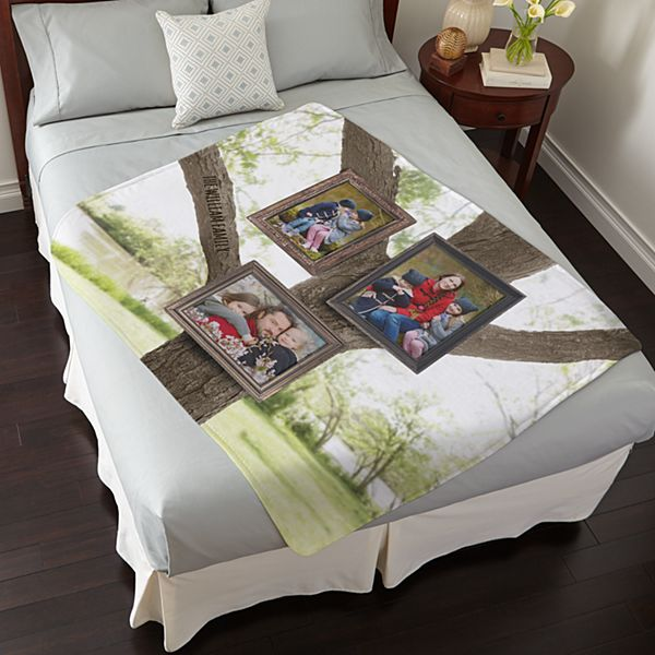 Photo Tree Plush Blanket