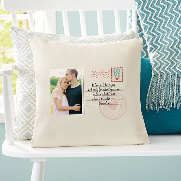 Sent With Love Photo Throw Pillow
