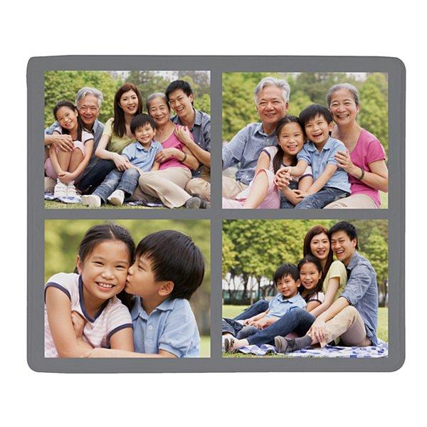 Photo Tile Plush Blanket - Gray