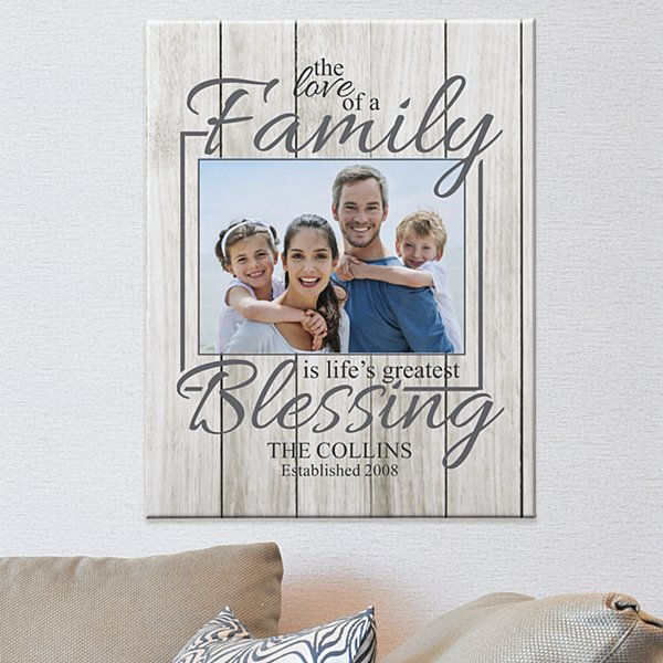 The Love of a Family Photo Canvas