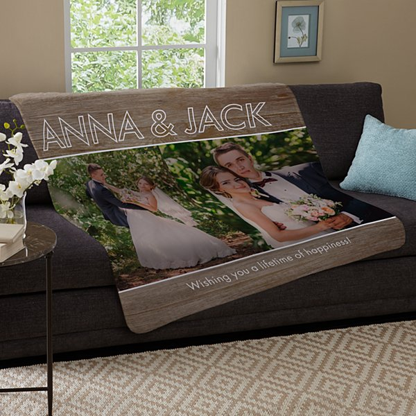 Message Of Love Photo Plush Blanket