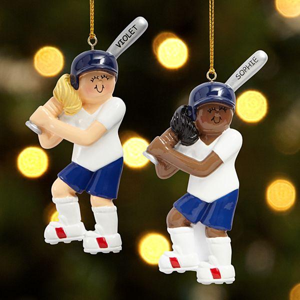 Softball Player Ornament
