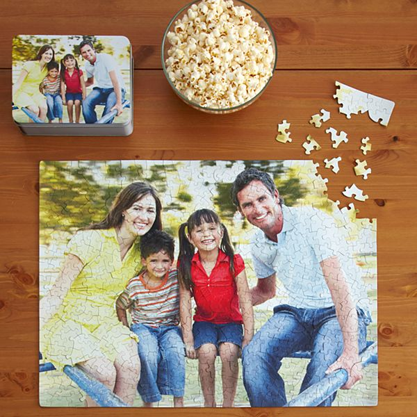 Photo Puzzles with Gift Tin