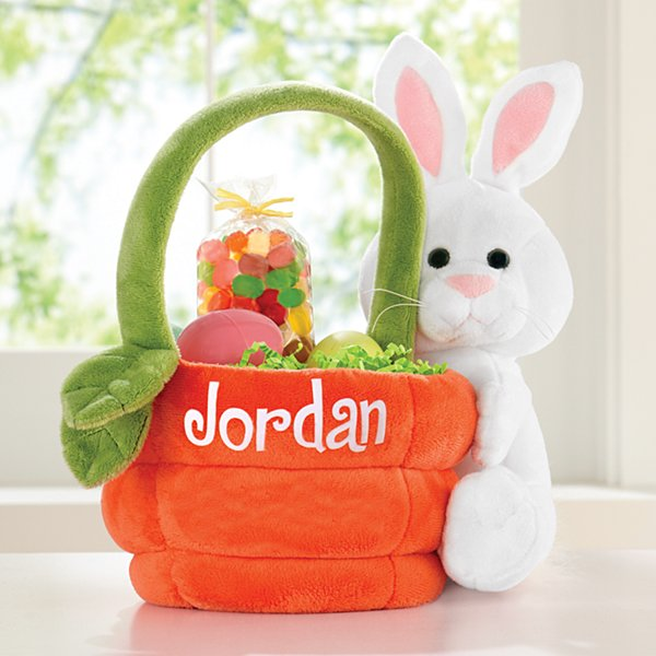 Plush Bunny Basket