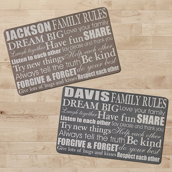 Family Rules Doormat