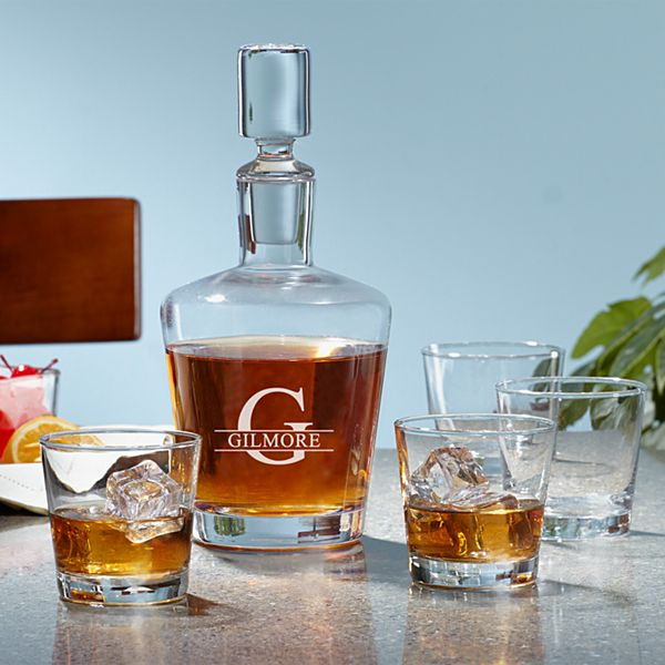 5 Piece Liquor Decanter Set