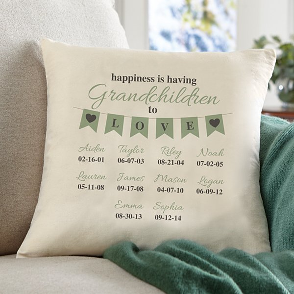 A Grandparents Love Throw Pillow