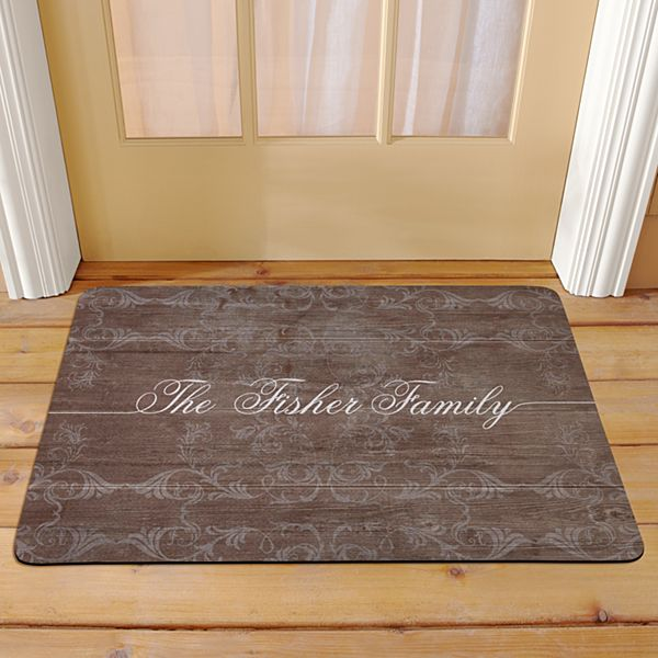 Rustic Scroll Family Doormat
