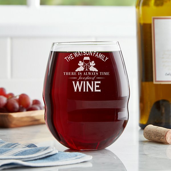 Wine Time Colossal Stemless Wine Glass
