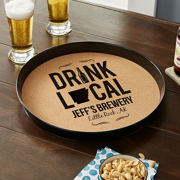 Drink Local Cork Serving Tray