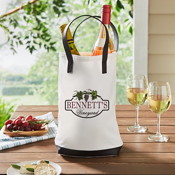 Vineyard Two Bottle Wine Tote