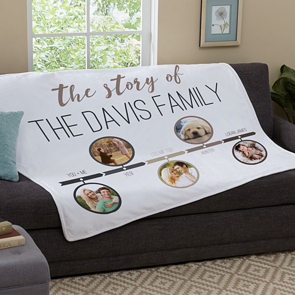 Our Family Story Photo Plush Blanket