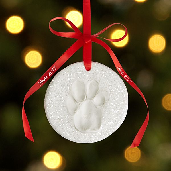 Glittery Snow Pawprint Ornament Kit