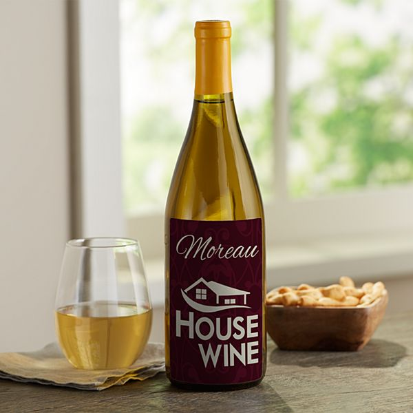 House Wine Custom Wine Labels (Set of 4)