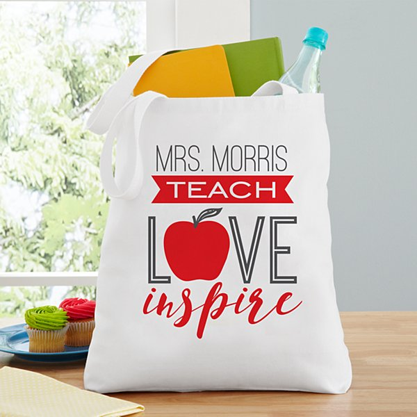 Teach, Love, Inspire Tote Bag