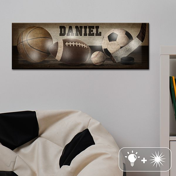 TwinkleBright® LED Vintage Sports Canvas