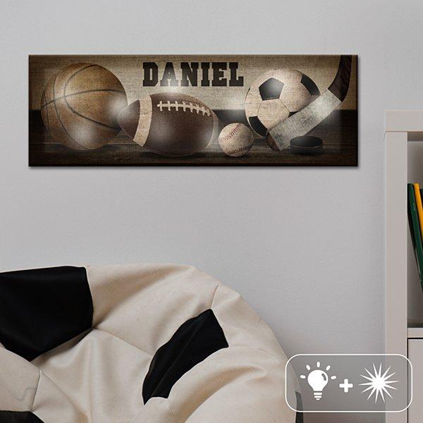 TwinkleBright® LED Vintage Sports Canvas