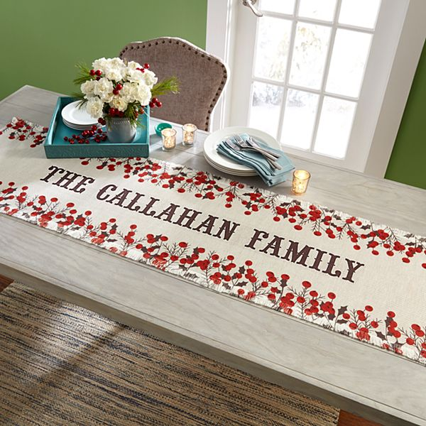 Winter Berry Table Runner
