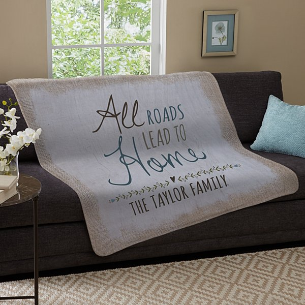 All Roads Lead to Home Plush Blanket