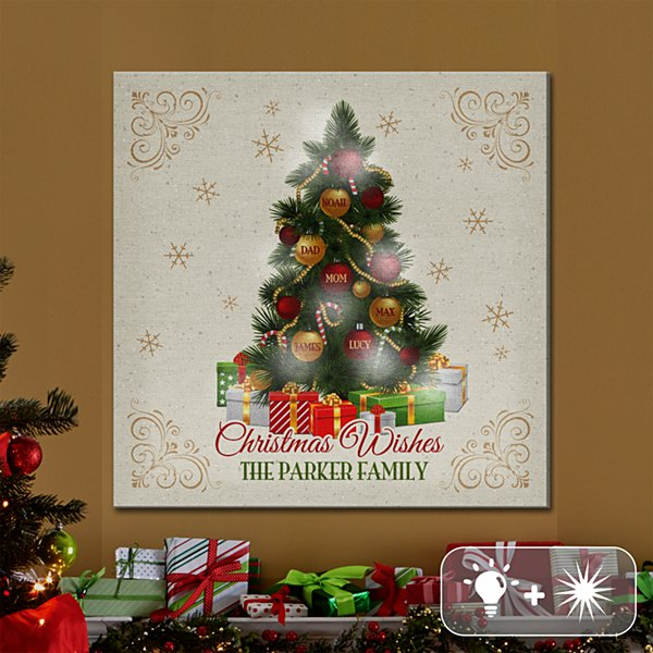TwinkleBright® LED Christmas Wishes Canvas