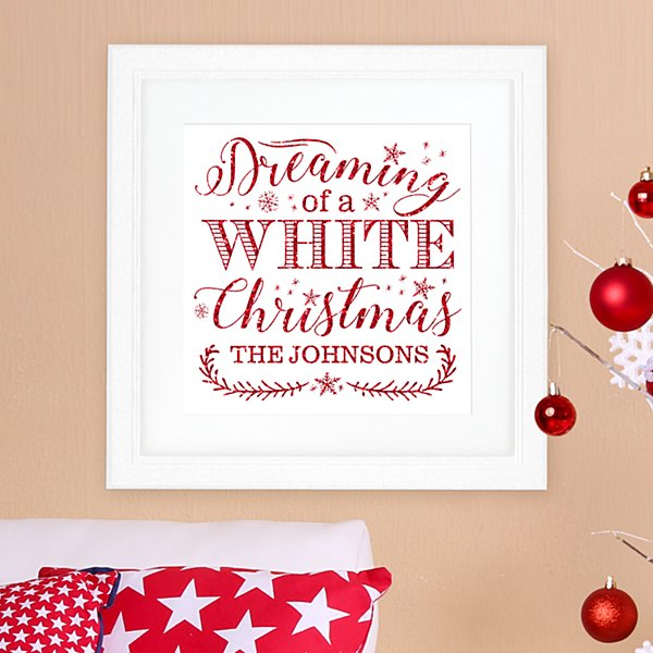 Dreaming of a White Christmas Square Framed Print