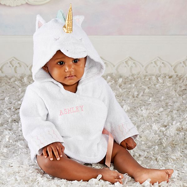Enchanted Unicorn Hooded Baby Robe