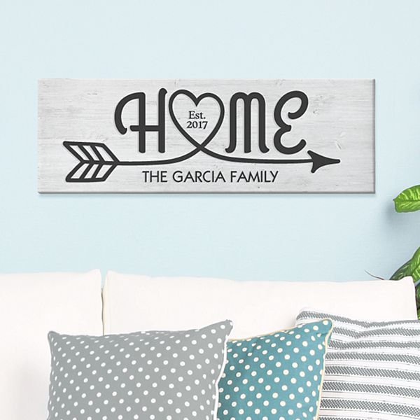 Home Arrow Canvas