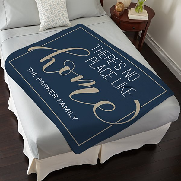 No Place Like Home Plush Blanket