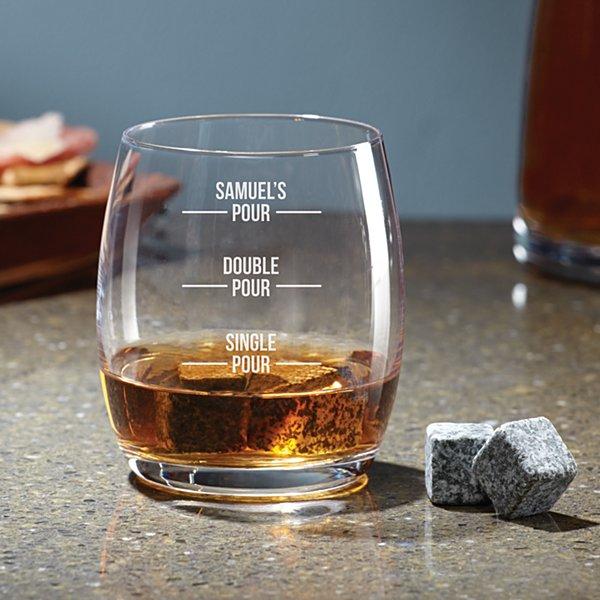Perfect Pour Whiskey Glass Stone Set