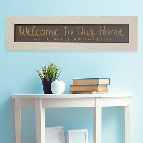 Welcome to Our Home Framed Wood Sign