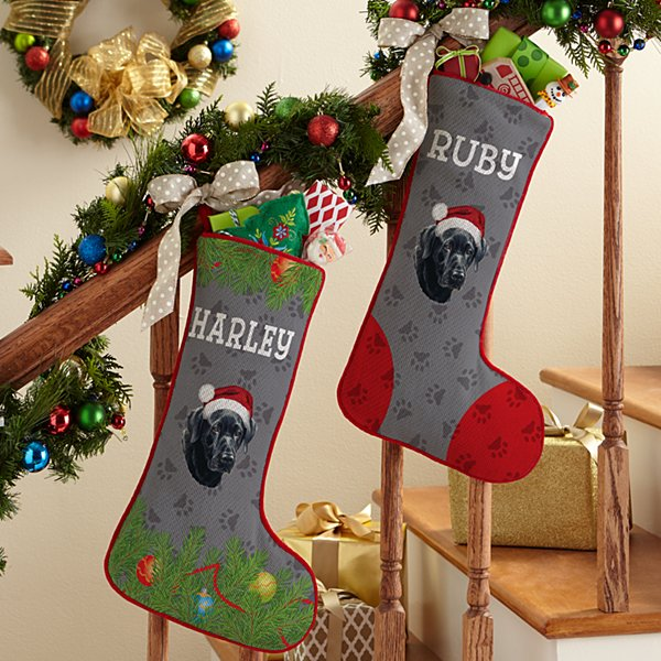 Black Lab Stocking by Linda Picken©