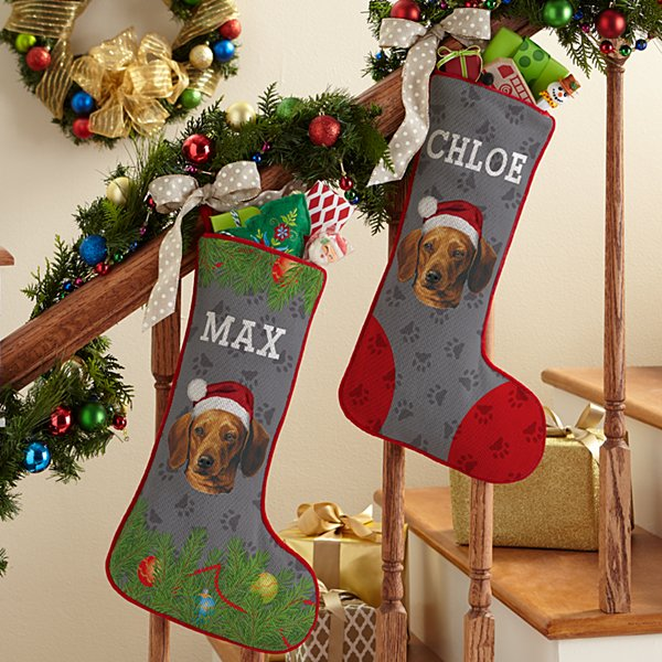 Dachshund Stocking by Linda Picken©