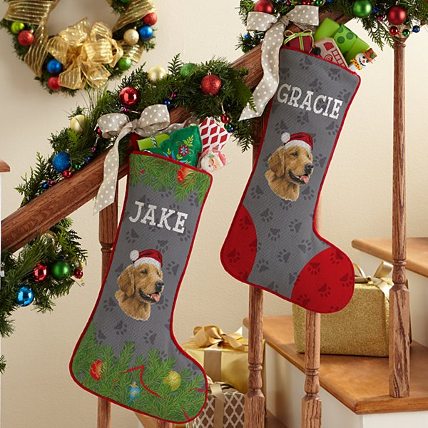 Golden Retriever Stocking by Linda Picken©