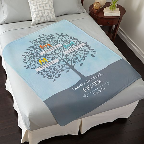 Loving Family Tree Plush Blanket