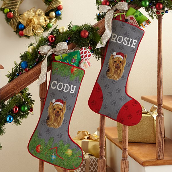 Yorkshire Terrier Stocking by Linda Picken©