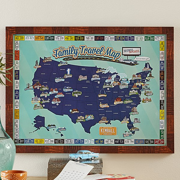 Family Travel Vacation Map
