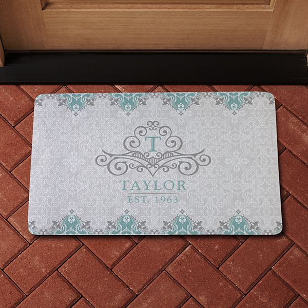 Elegant Monogram & Name Doormat