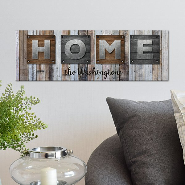 Rustic Plank Wood Canvas