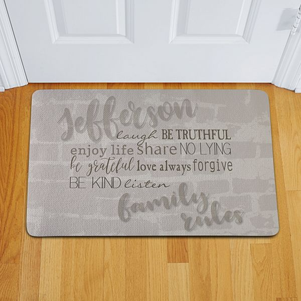 Modern Family Rules Doormat