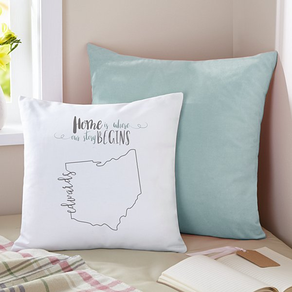 Scripted State Throw Pillow