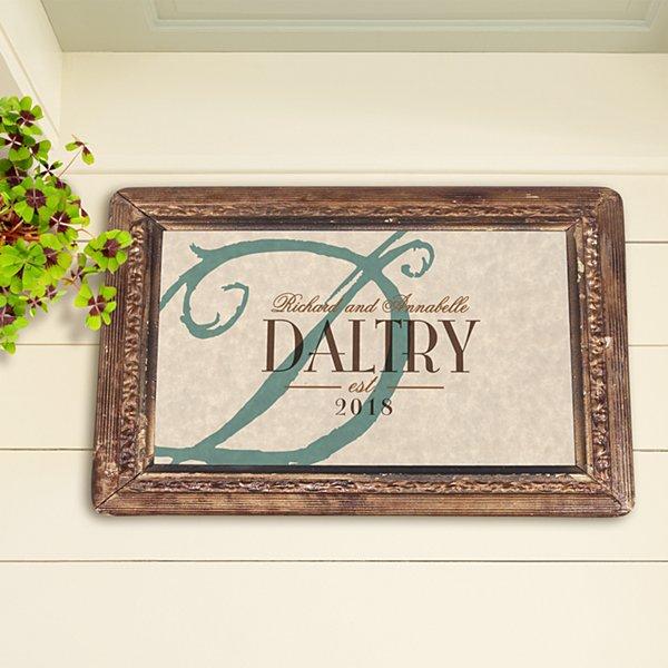 Vintage Name & Initial Doormat