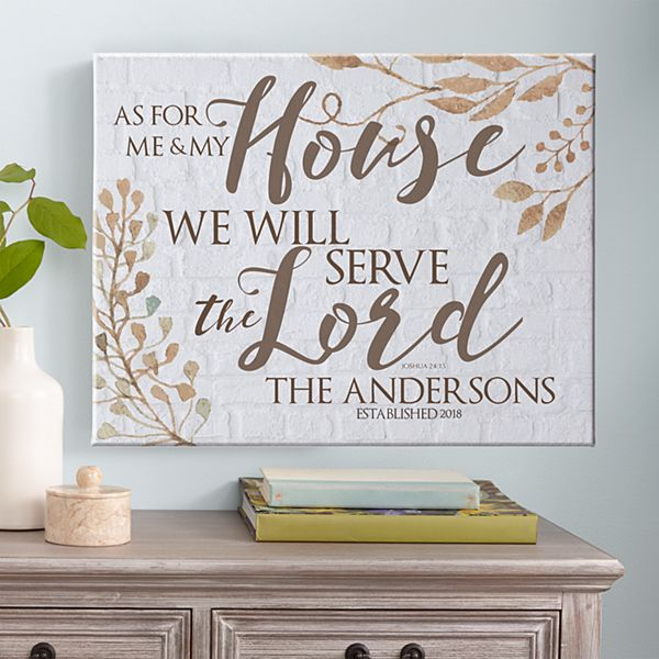 Our House Serves the Lord Canvas