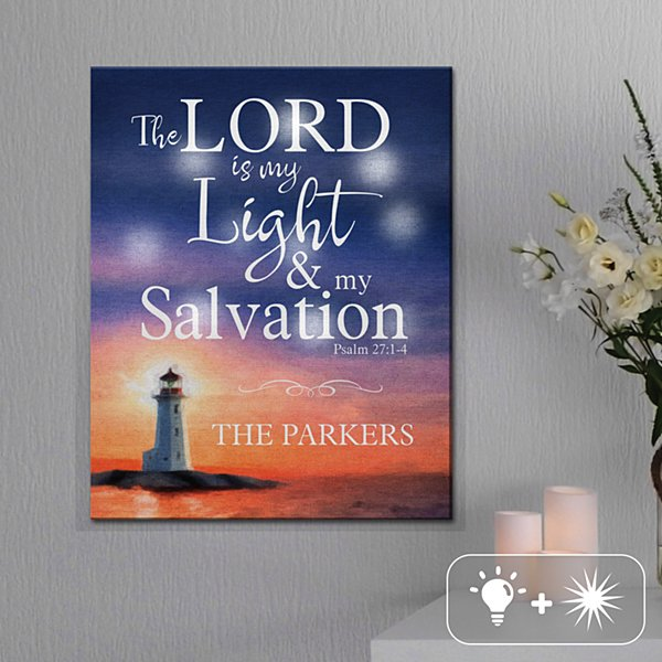 TwinkleBright® LED Lord is My Light Canvas