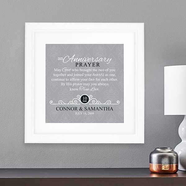 Anniversary Prayer Square Framed Print