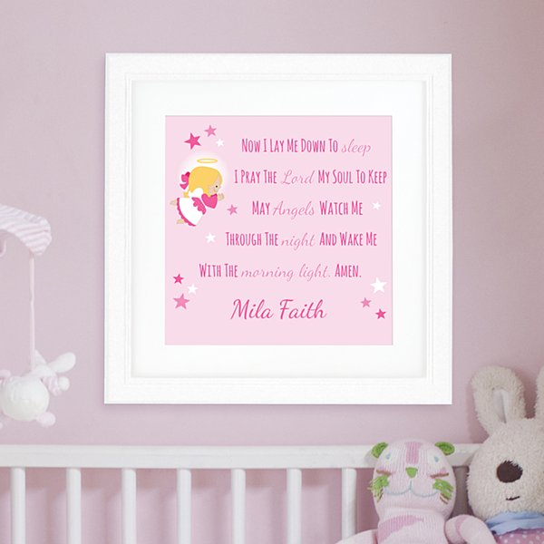Children's Prayer Square Framed Print