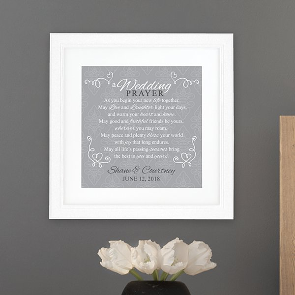 Wedding Prayer Square Framed Print