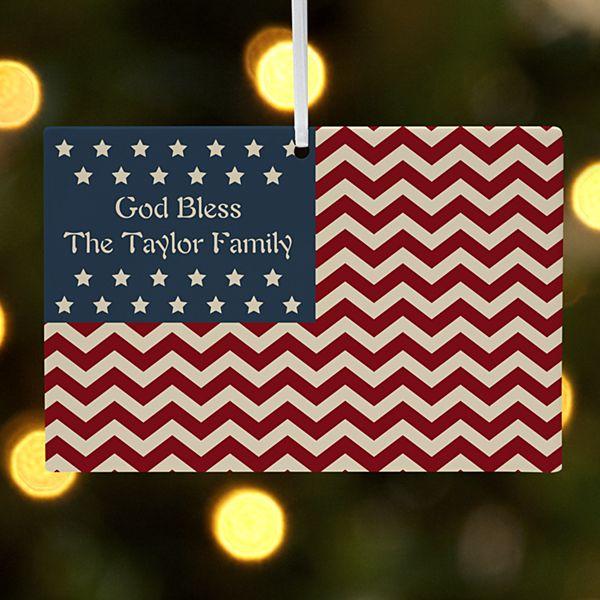 American Pride Rectangle Ornament