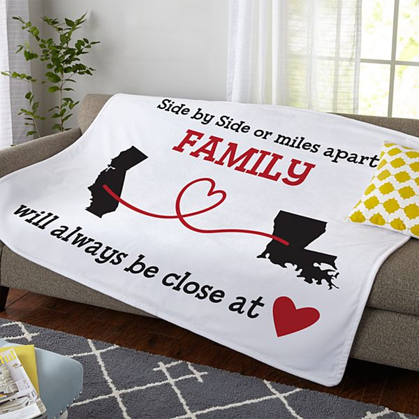Miles Apart, Close at Heart Plush Blanket